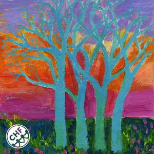 trees card front