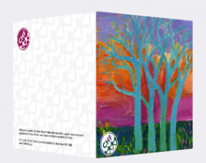 trees card front and back