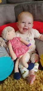 Riley with Molly's Dolly